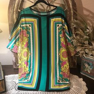 Eva Varro Multicolored Blouse Designer's Size L